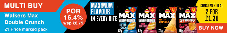 Walkers Max Double Crunch